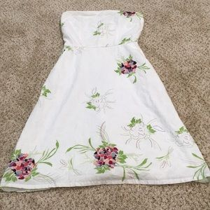 Delia's White Floral Dress